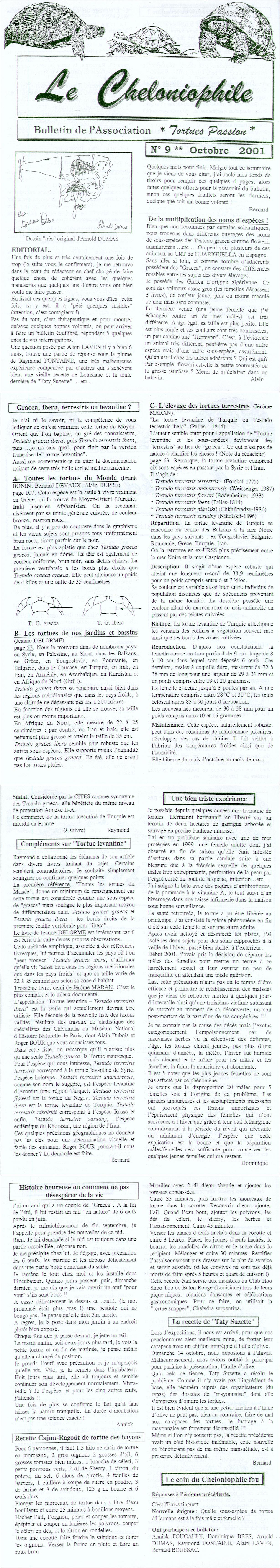 Inventaire Chéloniens 4 Après 2000